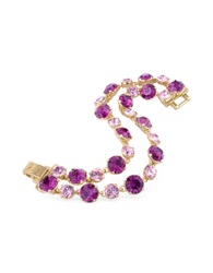 A Z Collection Pink And Amethyst Gold Plated Bracelet