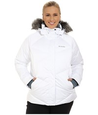 Columbia Plus Size Lay D Down Jacket White Satin Women's Coat