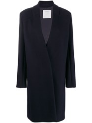 Sportmax Classic Single Breasted Coat Blue