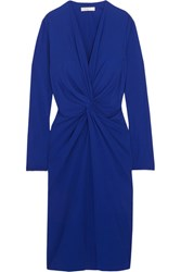 Lanvin Twist Front Jersey Dress Royal Blue