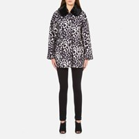 Marc Jacobs Women's Cropped Jacket With Fur Collar Ivory Multi