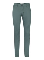 Topman Green Stretch Skinny Chinos