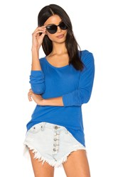 Bobi Light Weight Jersey Long Sleeve Tee Blue