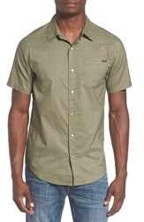 O'neill Men's 'Astoria' Extra Trim Fit Print Short Sleeve Woven Shirt Olive