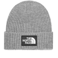 The North Face Logo Box Cuffed Beanie Grey