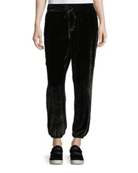 Current Elliott The Eden Velour Sweatpants Black