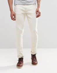 Nudie Jeans Skinny Lin Super Skinny Ecru Stretch Ecru White