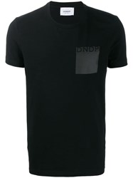 Dondup Straight Fit Logo T Shirt Black