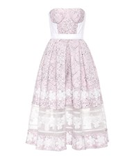 Huishan Zhang Wool And Silk Lace Dress Pink