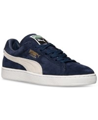 Puma Men's Suede Classic Casual Sneakers From Finish Line Peacoat Navy White