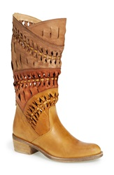 Summit By White Mountain 'Tulia' Leather Western Boot Women Tan Multi Suede