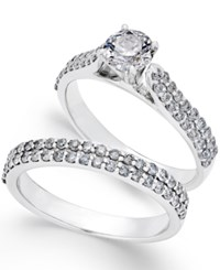 Macy's Diamond Bridal Set 1 3 8 Ct. T.W. In 14K White Gold