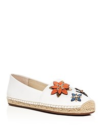 Michael Michael Kors Heidi Flower Applique Espadrille Flats Optic White
