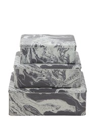 Ferm Living Marble Print Tin Boxes Grey