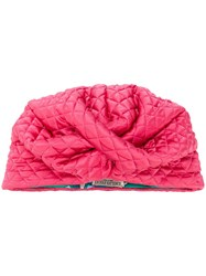 Emilio Pucci Twisted Front Turban Pink And Purple