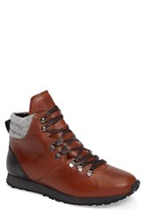 Hood Rubber Men's Concord Mid Top Wool Cuffed Waterproof Boot Camel Leather
