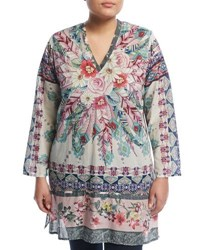 Johnny Was Plus Tribeca Floral Print Tunic Multi