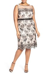 Brianna Plus Size Women's Sequin Embroidered Sheath Dress