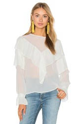 Endless Rose Ruffle Blouse White