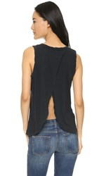 Current Elliott Cross Back Muscle Tee Black Beauty