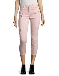 Blank Nyc Cropped Utility Jeggings Pale Pink