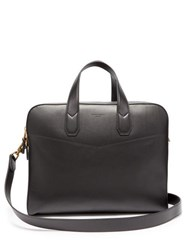 Dunhill Duke Double Document Leather Briefcase Black