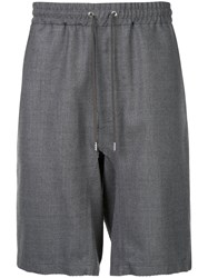 Undercover Drawstring Shorts Wool Grey