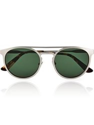 Calvin Klein Collection Round Metal Men's Sunglasses Silver