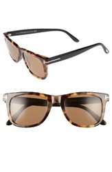 Tom Ford Women's Leo 52Mm Special Fit Sunglasses Tortoise Havana Roviex Tortoise Havana Roviex