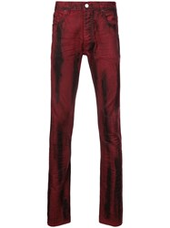 Fagassent Distressed Bootcut Jeans Red