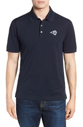 Cutter And Buck Big Tall Los Angeles Rams Advantage Regular Fit Drytec Polo Navy