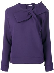 P.A.R.O.S.H. Knot Detail Sweatshirt Purple