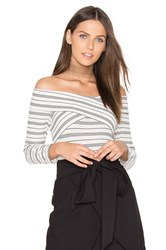 Greylin Drew Knit Off Shoulder Top Black