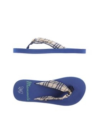 Atelier Fixdesign Thong Sandals Blue