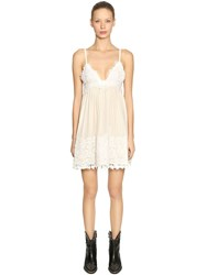 Fausto Puglisi Silk And Lace Mini Dress White