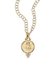 Temple St. Clair Angel Diamond And 18K Yellow Gold Medium Pendant