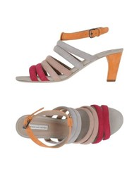 Dries Van Noten Footwear Sandals Women Light Grey