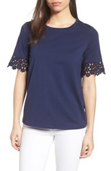 Draper James Palmetto Lace Tee Shirt