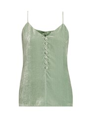 Hillier Bartley Velvet Cami Top Mint