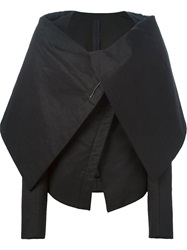 Gareth Pugh Oversized Collar Fitted Jacket Black