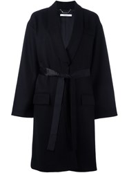 Givenchy Mid Length Belted Coat Black