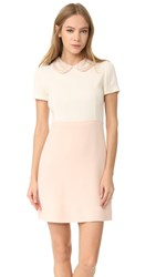 Amelia Toro Wool Crepe Dress White Rose