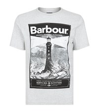 Barbour Lighthouse Logo T Shirt Male Grey