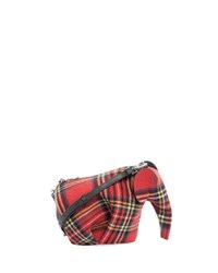 Loewe Plaid Elephant Mini Bag Red