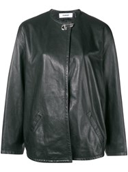 Chalayan Concealed Front Jacket Black