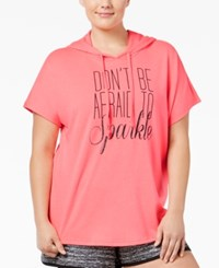 Material Girl Plus Size Graphic Short Sleeve Hoodie Only At Macy's Flashmode