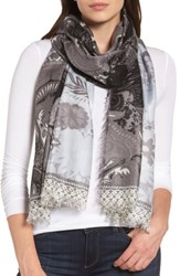Nordstrom Women's Bohemian Paisley Cashmere And Silk Scarf