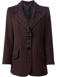 Marc Jacobs Embellished Blazer Brown