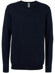 Bark Crew Neck Jumper Blue
