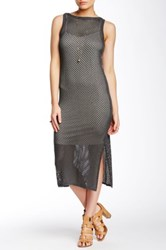 Autograph Addison Kelly Knit Midi Dress Gray